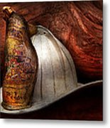Fireman - The Fire Chief Metal Print by Mike Savad