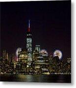 Fireworks 4th Of July Metal Print by D Plinth