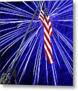 Fireworks At Iwo Jima Memorial Metal Print by Francesa Miller