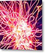 Fireworks At Night 6 Metal Print by Lanjee Chee