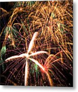 Fireworks Exploding Everywhere Metal Print by Garry Gay