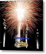 Fireworks Finale Metal Print by Frozen in Time Fine Art Photography
