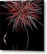 Fireworks Rockets Red Glare Metal Print by Christina Rollo
