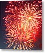 Fireworks Series II Metal Print by Suzanne Gaff