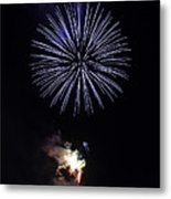 Fireworks Shell Burst Over The St Petersburg Pier Metal Print by Jay Droggitis