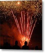 Fireworks Metal Print by Vonnie Murfin