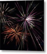 Fireworks With Pride Metal Print by Christina Rollo