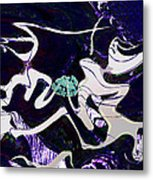 Firmament Cracked #11 Tapestry Of Pain Metal Print by Mathilde Vhargon