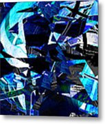 Firmament Cracked #9 - All Which Once Was Beautiful Metal Print by Mathilde Vhargon