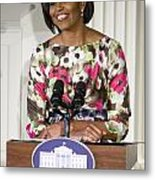 First Lady Michelle Obama Metal Print by JP Tripp