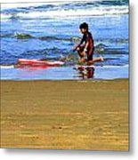 First Wave Metal Print by Joseph Coulombe