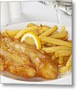 Fish And Chips Metal Print by Colin and Linda McKie