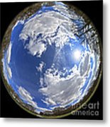 Fisheye Park Metal Print by Jane Rix