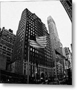 Fisheye View Of 34th Street From 1 Penn Plaza New York City Metal Print by Joe Fox