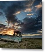 Fishing Boat Sunset Metal Print by Matthew Gibson