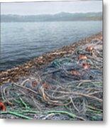 Fishing Nets To Dry Metal Print by Leonardo Marangi