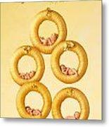 Five Gold Rings Metal Print by Anne Geddes
