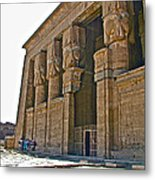 Five Thousand Year Old Temple Of Hathor In Dendera- Egypt Metal Print by Ruth Hager