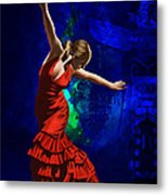 Flamenco Dancer 014 Metal Print by Catf