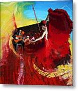 Flamenco Dancer 016 Metal Print by Catf