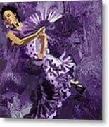 Flamenco Dancer 023 Metal Print by Catf