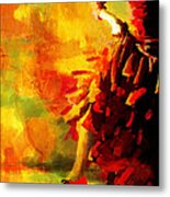 Flamenco Dancer 026 Metal Print by Catf