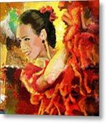 Flamenco Dancer 027 Metal Print by Catf