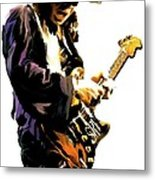 Flash Point     Stevie Ray Vaughan Metal Print by Iconic Images Art Gallery David Pucciarelli