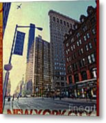 Flat Iron Building Poster Metal Print by Nishanth Gopinathan