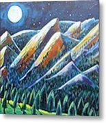 Flatirons In The Moonlight Metal Print by Harriet Peck Taylor