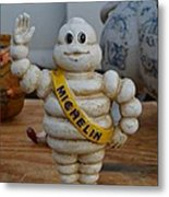 Flea Market Michelin Man Metal Print by Helene Dignard