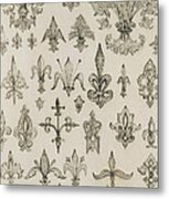 Fleur De Lys Designs From Every Age And From All Around The World Metal Print by Jean Francois Albanis de Beaumont