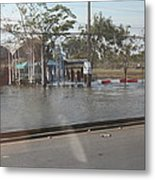 Flooding Of The Streets Of Bangkok Thailand - 01131 Metal Print by DC Photographer
