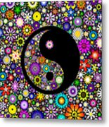 Floral Yin Yang Metal Print by Tim Gainey
