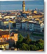 Florence Panorama Metal Print by Inge Johnsson