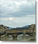 Florence. Ponte Vecchio Metal Print by Anna and Sergey