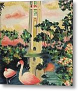 Florida Flamingo's Metal Print by Suzanne  Marie Leclair