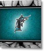 Florida Marlins Metal Print by Joe Hamilton