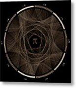 Flow Of Life Flow Of Pi #2 Metal Print by Cristian Vasile