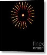Flower Fireworks Metal Print by Robert Bales