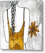 Flower Girl 2 Metal Print by Anne Costello