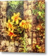 Flower - Lily - Yellow Lily  Metal Print by Mike Savad
