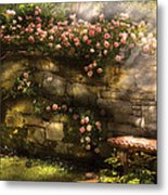 Flower - Rose - In The Rose Garden  Metal Print by Mike Savad