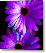 Flower Study 6 - Vibrant Purple By Sharon Cummings Metal Print by Sharon Cummings