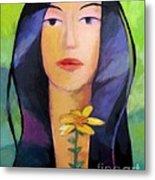 Flower Woman Metal Print by Lutz Baar