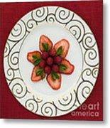 Flowering Fruits Metal Print by Anne Gilbert