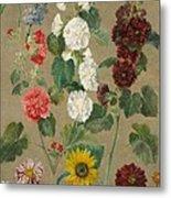 Flowers Metal Print by Ferdinand Victor Eugene Delacroix
