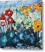 Flowers Through The Storm Metal Print by Michael Kulick