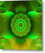 Flowing Green Metal Print by Hanza Turgul