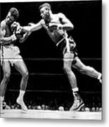 Floyd Patterson Throwing Hard Punch Metal Print by Retro Images Archive